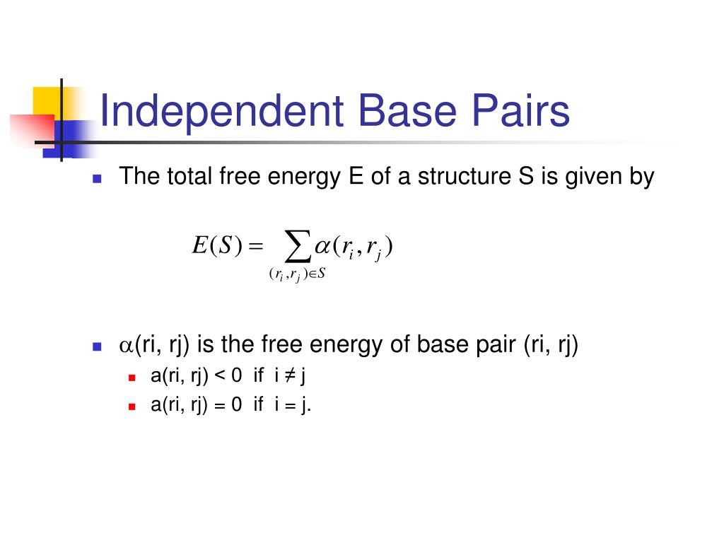 Independent Base Pairs