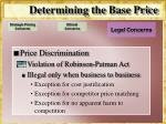 determining the base price13