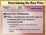determining the base price14