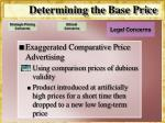 determining the base price16