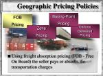 geographic pricing policies1