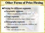 other forms of price flexing2