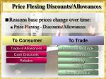 price flexing discounts allowances