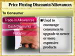 price flexing discounts allowances1
