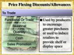 price flexing discounts allowances10