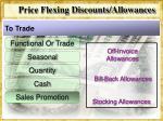 price flexing discounts allowances11