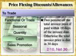 price flexing discounts allowances9