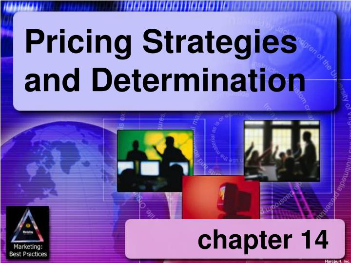 pricing strategies and determination n.
