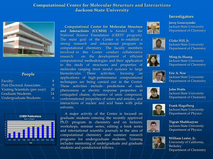 Computational Center for Molecular Structure and Interactions