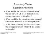 inventory turns example problem