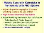 malaria control in karnataka in partnership with phc system