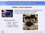 rubber based industries