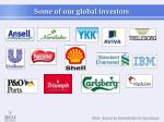 some of our global investors