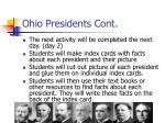 ohio presidents cont1