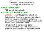statistikler eurostat publications http epp eurostat cec eu int1
