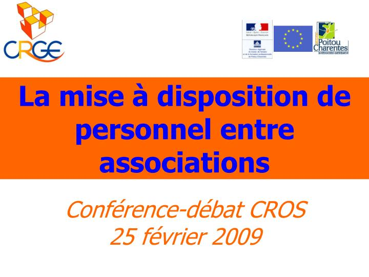 la mise disposition de personnel entre associations n.