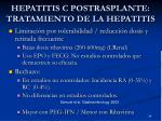 hepatitis c postrasplante tratamiento de la hepatitis3