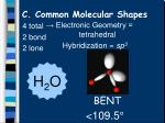c common molecular shapes11