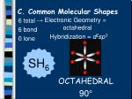 c common molecular shapes16