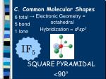 c common molecular shapes17