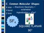 c common molecular shapes18
