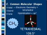 c common molecular shapes9