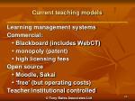 current teaching models