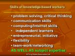 skills of knowledge based workers