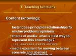 t teaching functions