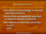 teaching functions