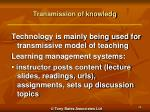 transmission of knowledg