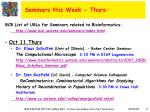 seminars this week thurs