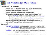 ss prediction for tm helices