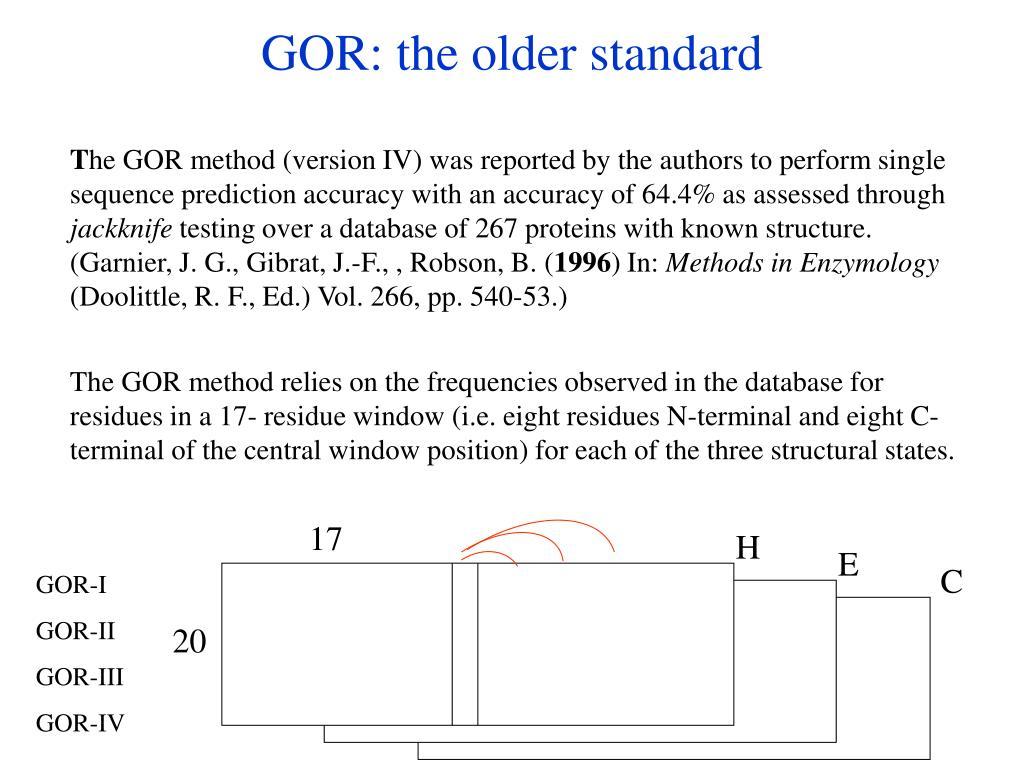 GOR: the older standard