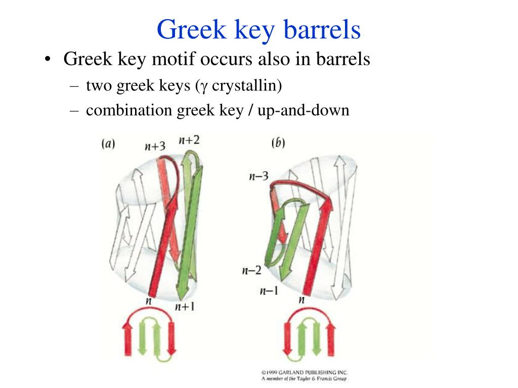 Greek key barrels