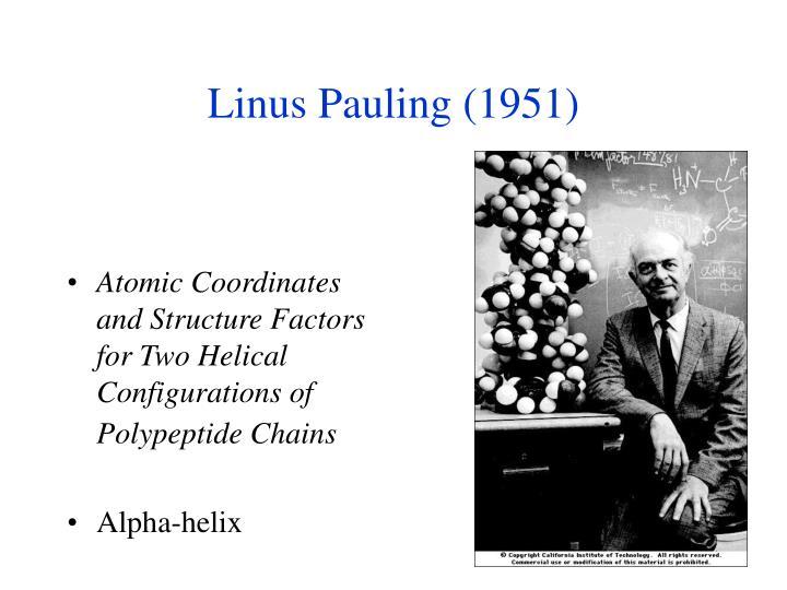 Linus pauling 1951