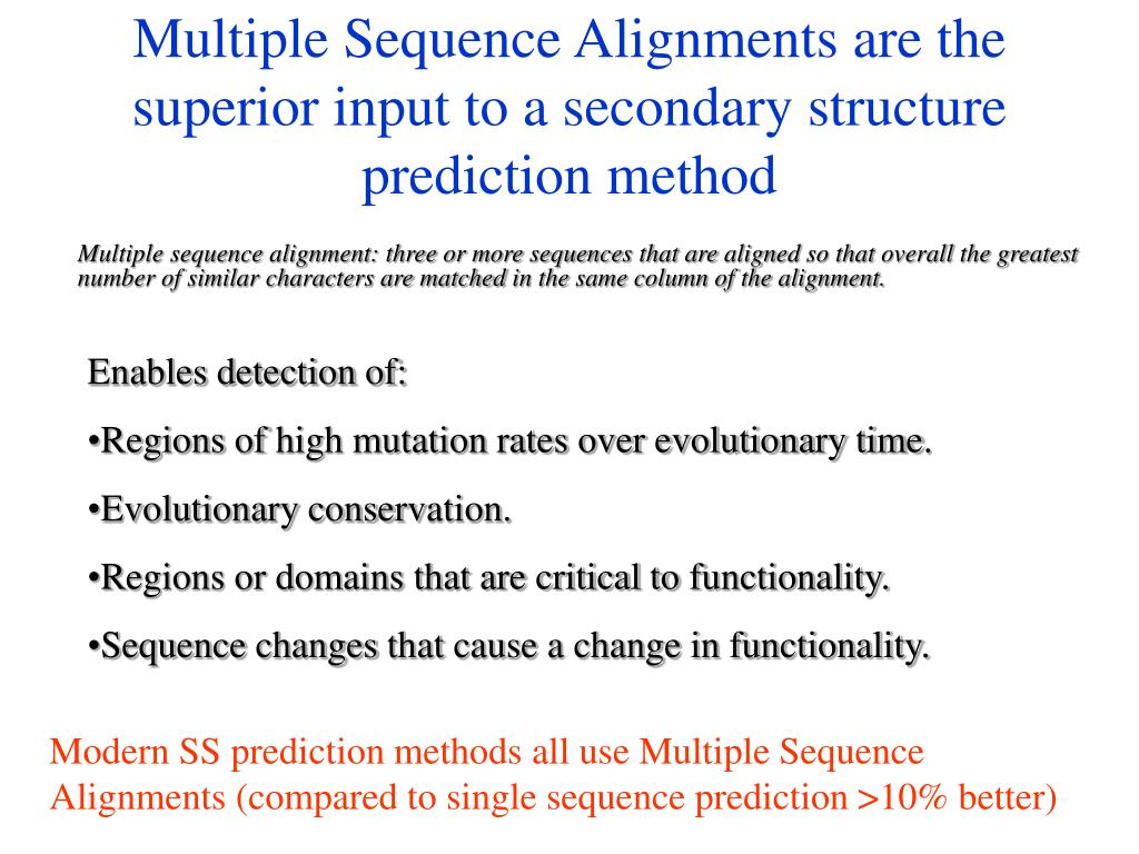 Multiple Sequence Alignments are the superior input to a secondary structure prediction method