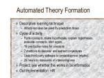 automated theory formation