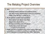 the metalog project overview