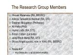 the research group members