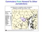 commuters from howard to other jurisdictions