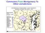 commuters from montgomery to other jurisdictions