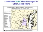 commuters from prince george s to other jurisdictions