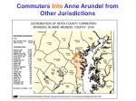 commuters into anne arundel from other jurisdictions