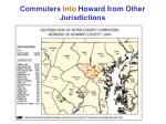 commuters into howard from other jurisdictions