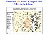 commuters into prince george s from other jurisdictions