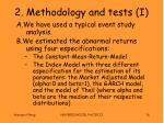 2 methodology and tests i