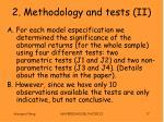 2 methodology and tests ii