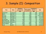 3 sample i composition