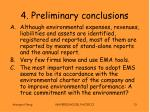 4 preliminary conclusions